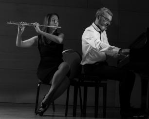 Dúo Bruyères (Isabel Serra, flauta y Andrés Moya, piano) Foto: Juan Antonio Rodríguez