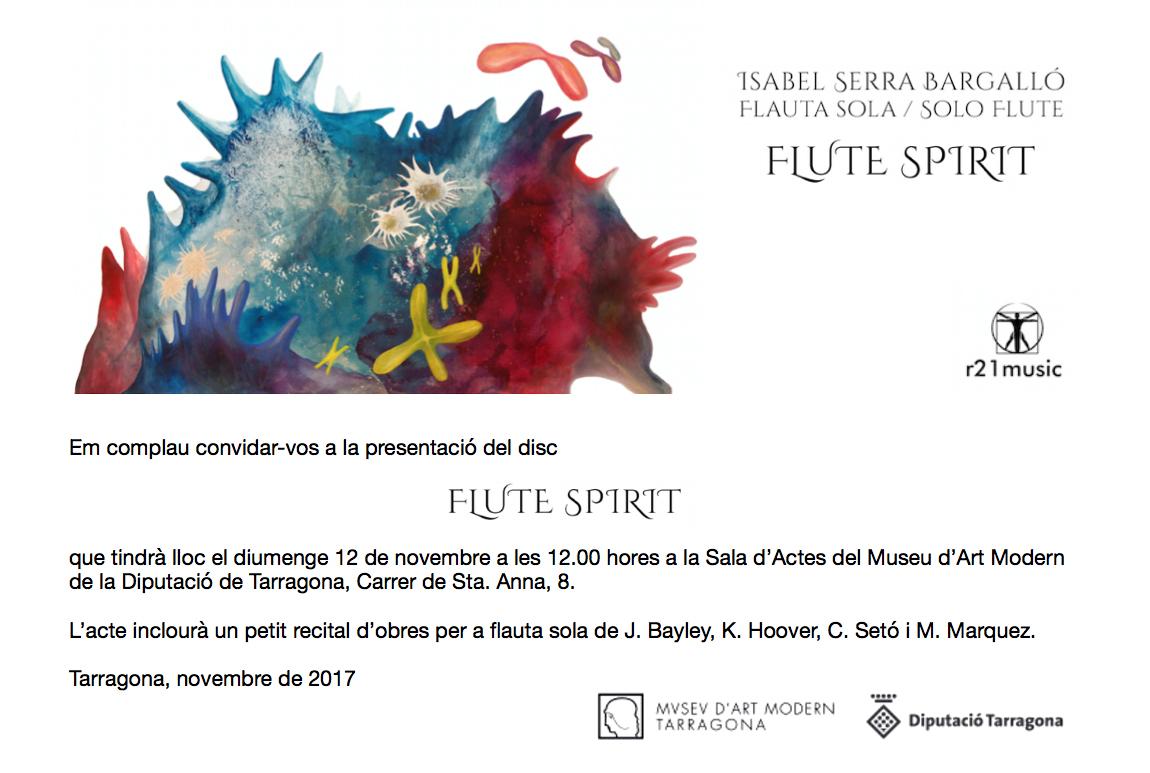 Invitació FLUTE SPIRIT