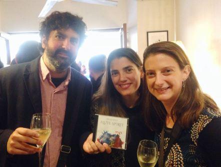 Amb l'artista Enric Llevat i la fotògrafa Mònica Galera