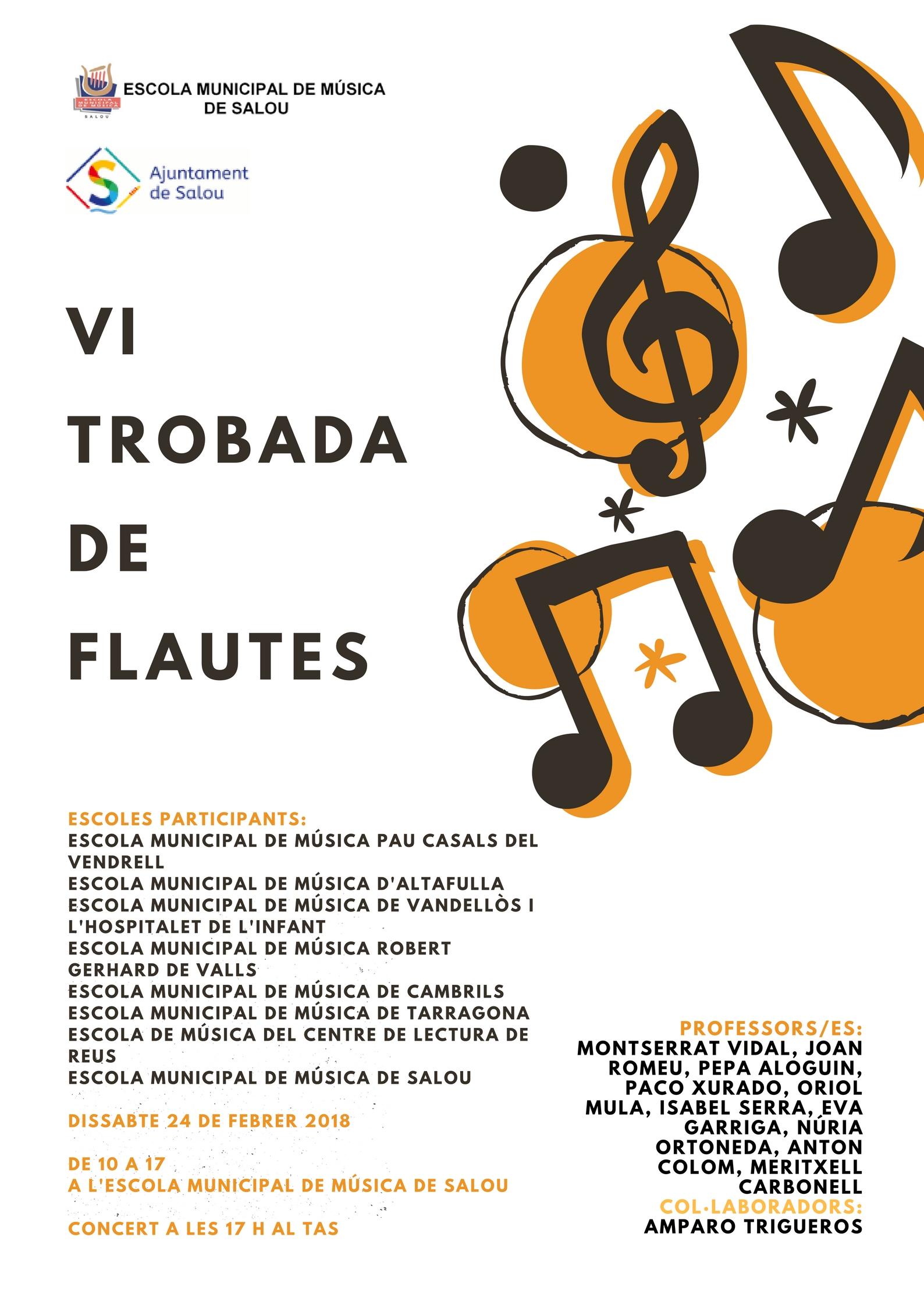 Cartell VI Trobada de Flautes
