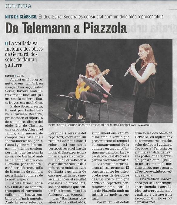 Critica oncert Duo Serra-Becerra