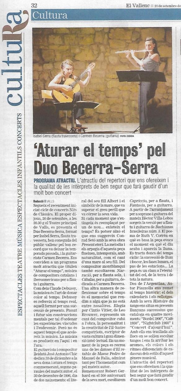Previa Duo Becerra Serra